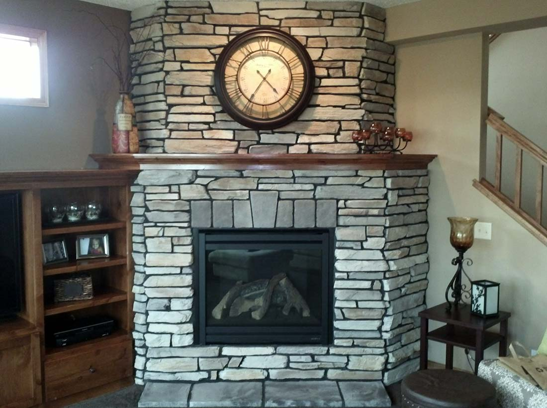 Cultured Stone Fireplace in Burnsville MN