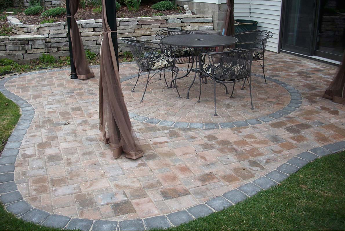 Edged Paver Patio Burnsville MN