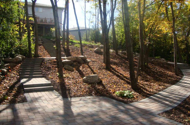 Patio with Sidewalks and Steps in Burnsville MN