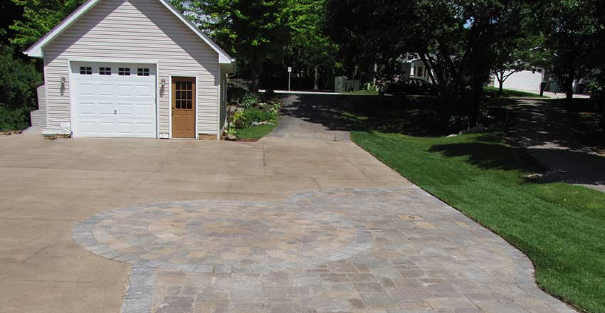 paver driveway project Burnsville MN
