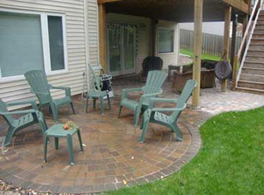 patio edging with pavers