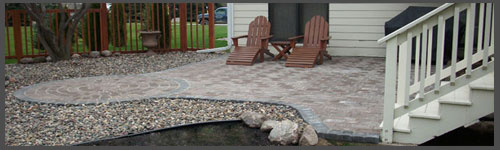 completion of Apple Valley MN paver patio project