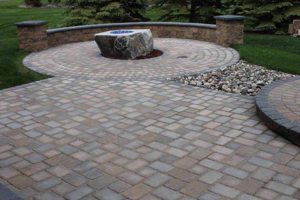 Custom landscaping by Fredrickson Lawn and Landscape
